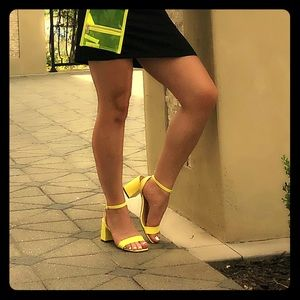 Neon heels ! Will come with neon  side purse )